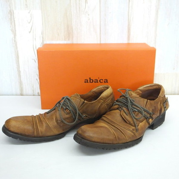e150e652556 abaca Abe cuttlefish leather shoes leather shoes brown DBR string shoes  genuine leather gentleman men size ...