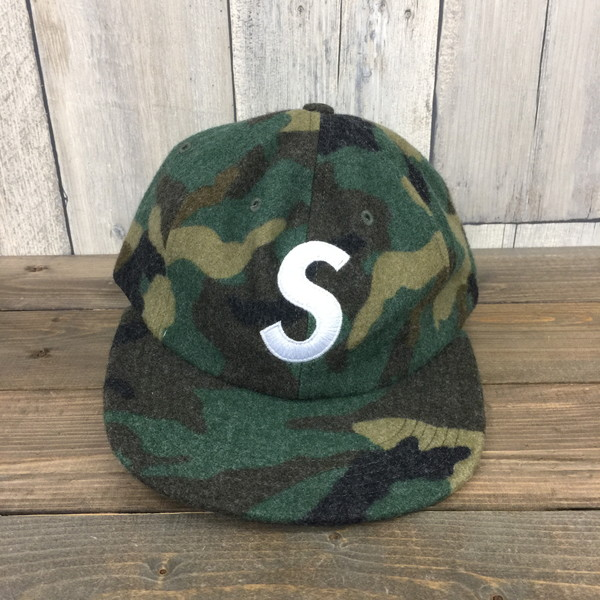 74e89b23 SUPREME シュプリーム 17AW WOOL S LOGO 6-PANEL cap hat camouflage getting covered  accessory regular ...