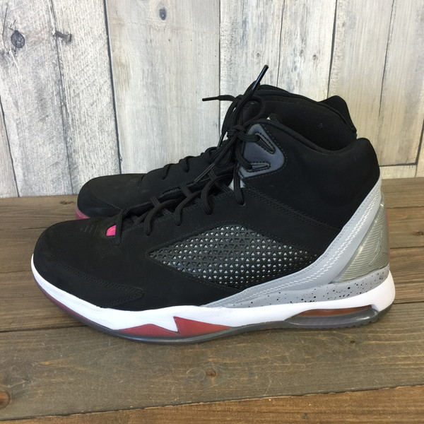 NIKE Nike Air Jordan sneakers AIR JORDAN FLIGHT REMIX shoes shoes fried food avian mixture 28.5cm black black 679,680 081 men's secondhand clothes