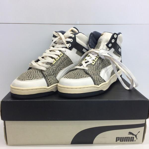 cb56b26d7 PUMA Puma slipstream 09S PK1853 6700 slipstream sneakers shoes leather  snake snake white navy men 28cm Mikunigaoka store 752116 RM1937N