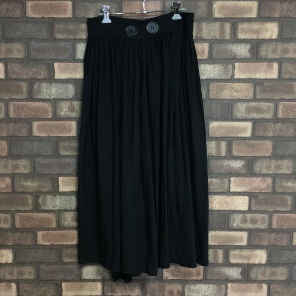 Y's ワイズ レーヨン巻きギャザースカート 3 黒 ブラック レディース Yohji Yamamoto Femme ヨウジヤマモトファム 三国ヶ丘店 MD 874054 RM0127I【中古】