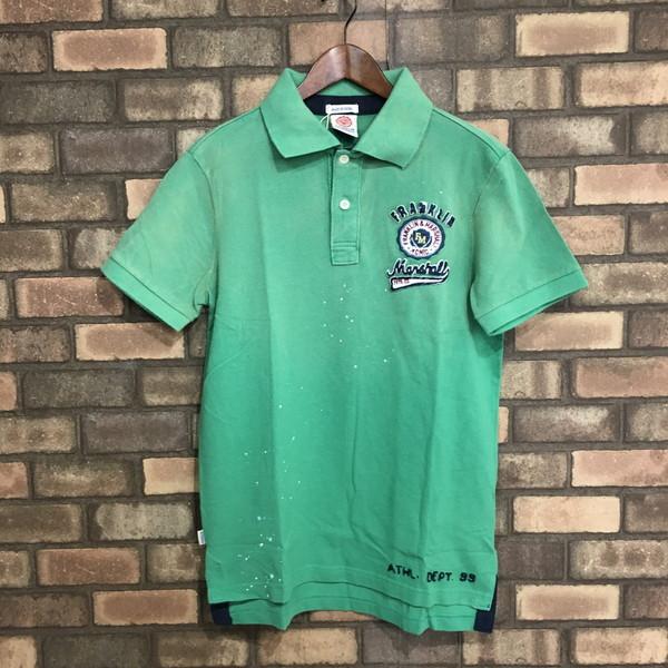 b179ea1a2 FRANKLIN&MARSHALL Franklin & Marshal polo shirt 37141 vintage-like light  green emerald ...