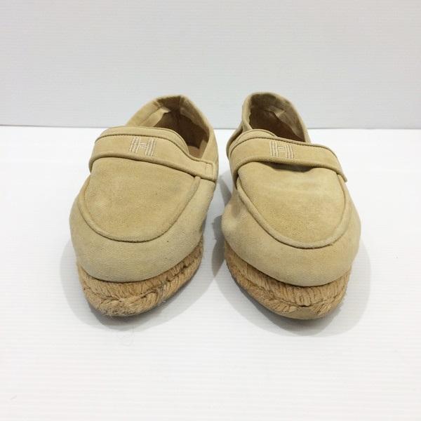 HERMES エルメス Hロゴ シューズ 靴 スウェード ベージュ 23.5cm レディース 婦人 三国ヶ丘店 838957 【中古】 RMB325