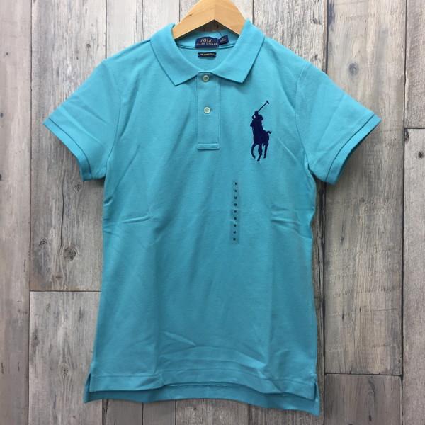 e7ca1af72 RALPH LAUREN Ralph Lauren short sleeves polo shirt Lady's light blue tops  shirt sports golf M ...