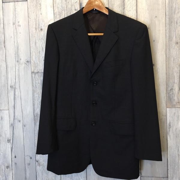 PAUL SMITH ポール・スミス セットアップ スーツ 3BJKT SUPER 150S WOOL ブラック ジャケット アウター パンツ Mサイズ 日本製 メンズ 古着屋NEXT貝塚店【中古】RK4506M