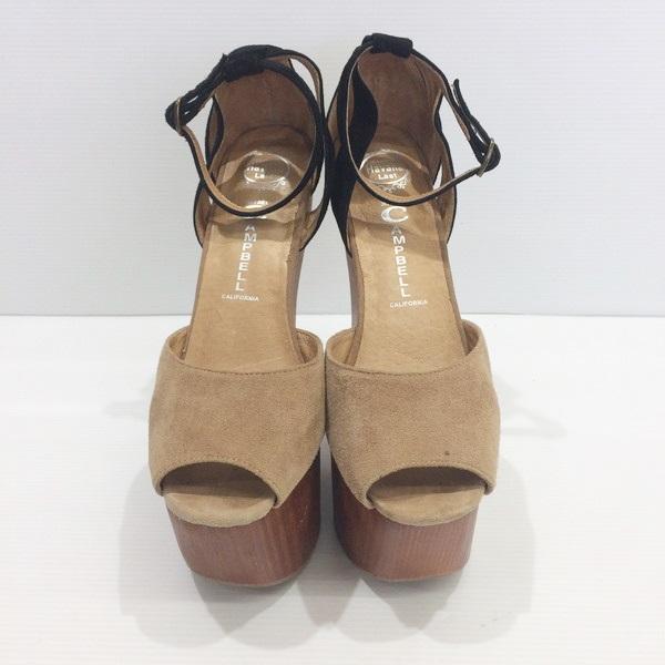finest selection 0e122 8bc78 Jeffrey Campbell Jeffrey Campbell wedge sole sandals beige black shoes  shoes Lady's 7.5M 24.5cm Mikunigaoka store 950680 RM2386