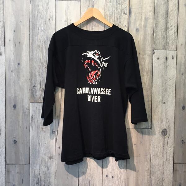 TENDERLOIN テンダーロイン 17SS CAHULAWASSEE RIVER Tシャツ ブラック メンズ カジュアル アメカジ TOPS トップス Mサイズ 古着屋NEXT貝塚店【中古】RK2021A