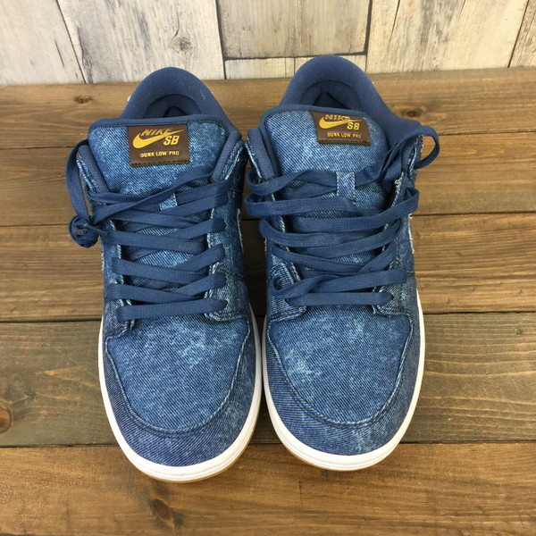 half off 83d49 a3584 NIKE Nike SB DUNK LOW TRD QS quick strike 883,232-441 EAST WEST PACK denim  blue Japanese non-release DENIM shoes sneakers shoes 26cm men s secondhand  ...
