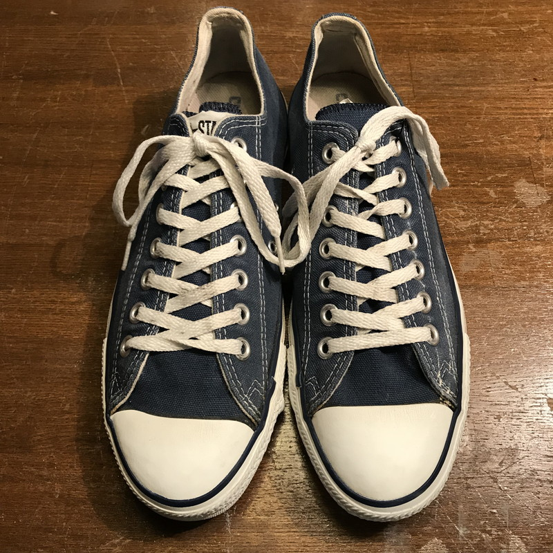 97e4d9289757 Vintage Mikunigaoka shop 755605 RM569H for CONVERSE Converse ALL STAR LOW  90s made in all-star low box existence rare navy men US8.5 USA