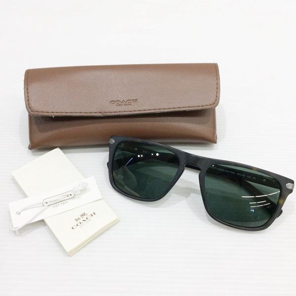 b9fbb175b4ff COACHコーチHC8129サングラスアイウェアブラックファッション小物メンズレディース眼鏡三国ヶ丘店 ...