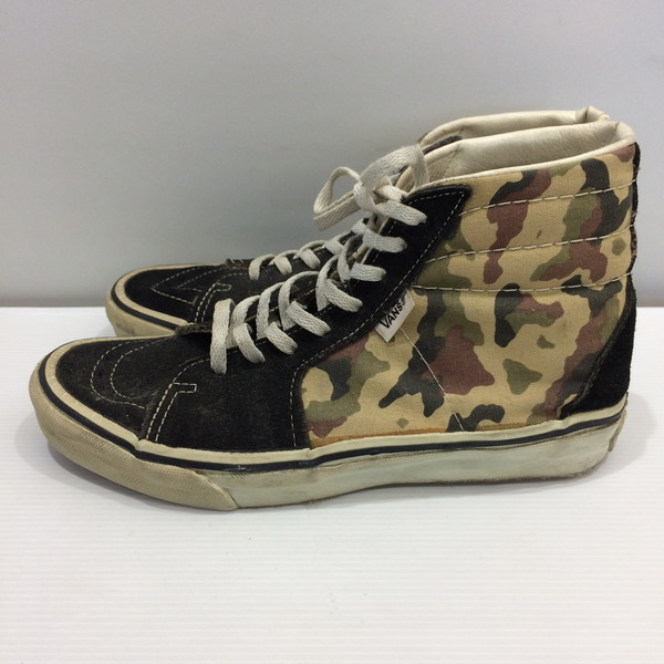 d864c067867e63 Mikunigaoka shop 967794 RM2657 made in the VANS station wagons SK8-HI CAMO sneakers  high-top shoes black green khaki multicolored camouflage men US8(26cm) ...