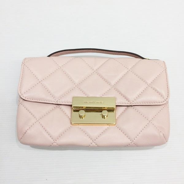 Michael Kors Sloane Chain Shoulder 30h3gs1m1n Bag Handbag Pink Gold Metal Ings Quilting Lady S Mikunigaoka 994608 Rmb592