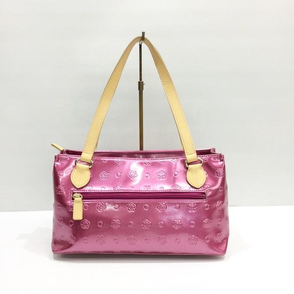 Mikunigaoka 017030 Rm2649 Made In Clathas クレイサスベティエナメルボックストートハンドバッグ 合皮 Leather Camellia Monogram Bag Pink System Whole