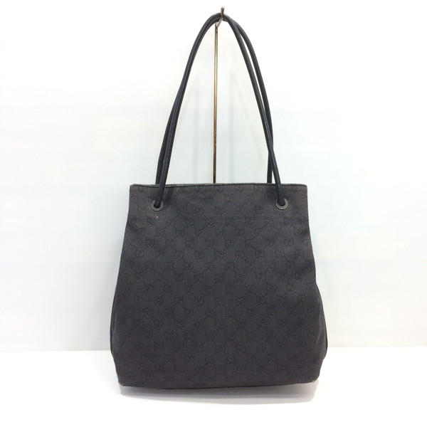 Mikunigaoka 104846 Rmb786 Made In Gucci Shoulder Bag 101341 Shawl Tote Leather Black Whole Pattern Gg Canvas Lady S Italy