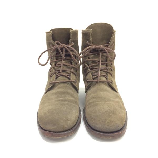 BUTTERO ブッテロ ブーツ B1101 スウェード レースアップブーツ ショートブーツ 靴 くつ カーキ メンズ 43 イタリア製 三国ヶ丘店 071797 【中古】 RM2818