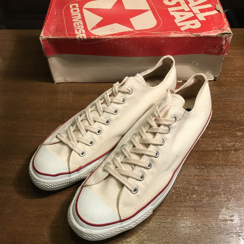 975216301e53 Vintage Mikunigaoka shop 106086 RM640H product made in dead stock NOS rare  white men US13.5 USA-free for CONVERSE Converse ALL STAR HI 80s