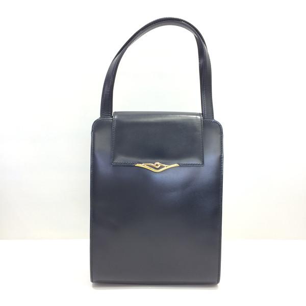 Cartier カルティエ ハンドバッグ サファイアライン レザー 皮革 かばん 鞄 ブラック レディース 三国ヶ丘店 142442 【中古】 RMB862