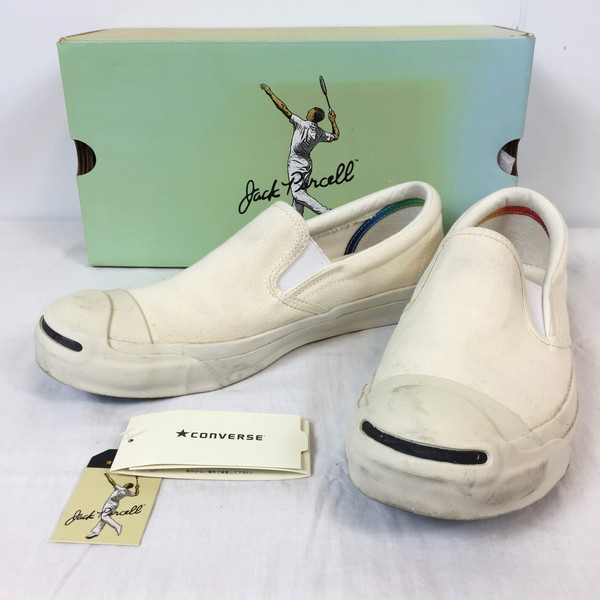 1265827bc854 Shell mound store 456400RK164G made in CONVERSE Converse JACK PURCELL  WASHOUT SLIP-ON 1CJ674 Jack Pursel wash out slip-ons shoes shoes white  natural white ...