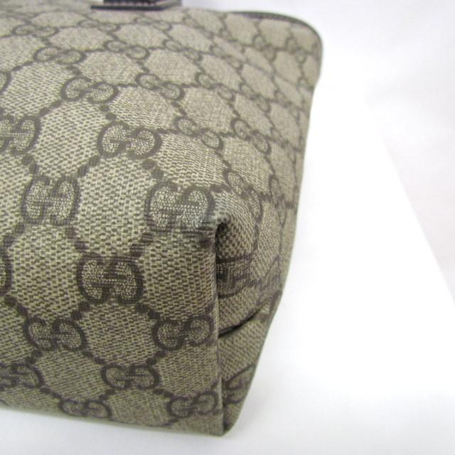 7f8f380685ad GUCCIグッチトートバッグ211138GG柄PVCキャンバスベージュブラウンレディースメンズ鞄かばんイタリア製東