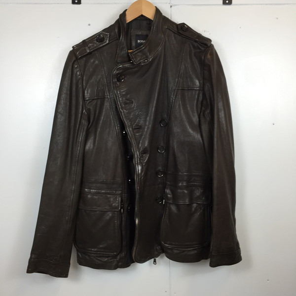 728bd3333 Shell mound store 487862 RK2377A made in 38 HUGO BOSS Hugo Boss leather coat  0010016526 jacket ...