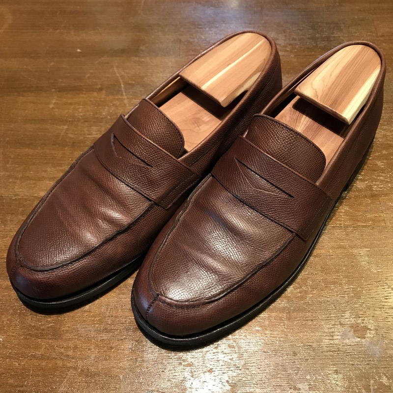 48271cdff5b Vintage Mikunigaoka store 195660 RM723H made in ParaBoots Para boots Adonis penny  loafers grain leather beauty product brown men 7.5 France