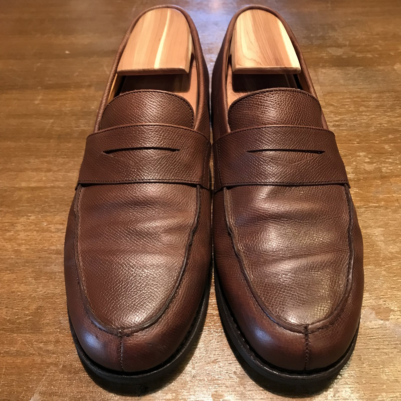 ce8a682a6 NEXT51: ParaBoots帕拉長筒靴阿多尼斯硬幣低毛皮粒料皮革美品棕色人7.5 ...
