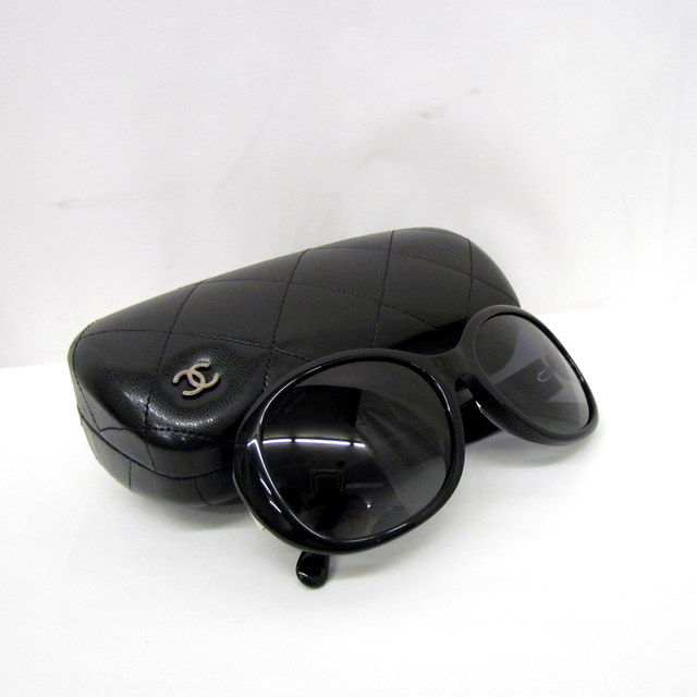 5975b4add8bf CHANEL シャネル サングラス 眼鏡 メガネ アイウェア 5235-Q-A 56□18 イタリア製 ブラック シルバー