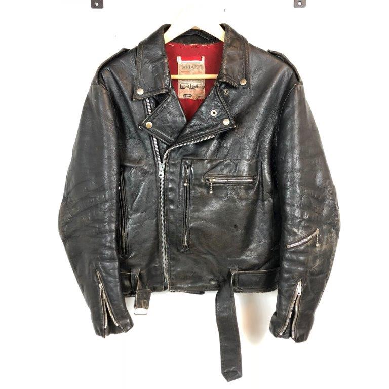 60s lewis leather bronx 38 ルイスレザー ブロンクス レザージャケット vintage ヴィンテージ 3連タグ カウレザー 貝塚店【USED】RK1000HI