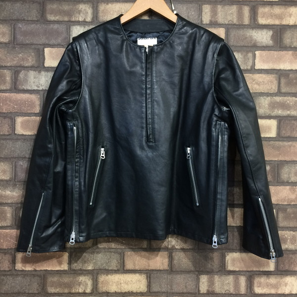 wonderland ワンダーランド Pullover Leather Jacket プルオーバーレザージャケット アウター ブラック メンズ 0 日本製 三国ヶ丘店 207219 【中古】 RM546T