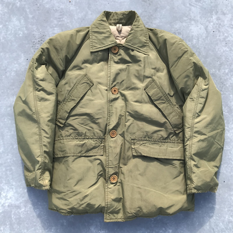 74be9f38936 Vintage Mikunigaoka shop 784872 RM752H made in EDDIE BAUER Eddie Bauer 60's  Bauer down jacket BLIZZARD PROOF khaki men M USA