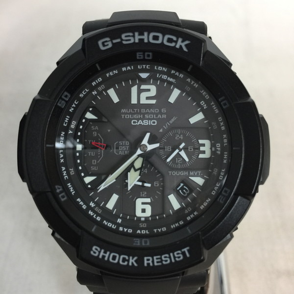 G-SHOCK ジーショック スカイコックピット CASIO カシオ 腕時計 ウォッチ GW-3000BB-1AJF マルチバンド6 電波・ソーラー ブラック 黒メンズ 貝塚店 528121 【中古】 RK173HI