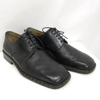 LOUIS VUITTON ルイヴィトン シューズ レザー シューズ 革靴 ブラック レースアップ ビジネス 紐靴 メンズ サイズ5 24cm相当 イタリア製 東大阪店 193013【中古】 RYB0865