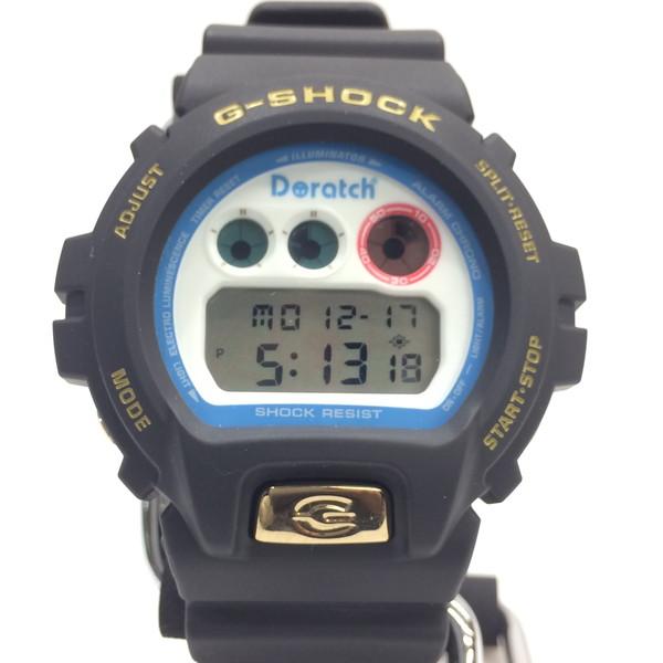 G-SHOCK ジーショック 腕時計 DW-6900 Daratch ドラッチ コラボ CASIO カシオ ドラえもん 2112本限定 デジタル クォーツ 三つ目 ブラック メンズ レディース 三国ヶ丘店 161340 【中古】 RM3104