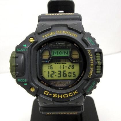 G-SHOCK ジーショック CASIO カシオ 腕時計 スカイフォース SKYFORCE DW-6700J-3 ショックレジスト 20気圧防水 デジタル ブラック グリーン T東大阪店 126622【中古】 RY0682