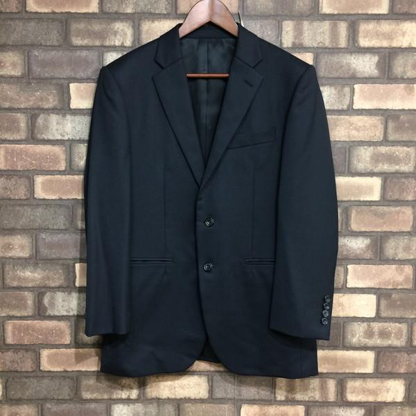 TAKEO KIKUCHI タケオキクチ DORMEUIL CLOTH使用 Set-Up Suit セットアップスーツ ブラック ストライプ メンズ 2 日本製 三国ヶ丘店 143043 【中古】 RM3122
