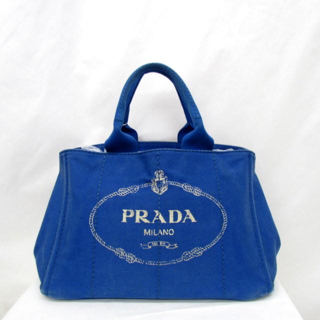 59faf40712c6 PRADA プラダ トートバッグ カナパ CANAPA キャンバス ブルー レディース 鞄 かばん イタリア製 東大阪店 291658