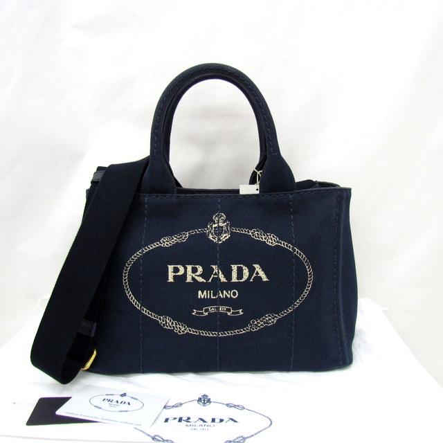805552cd82be PRADA プラダ トートバッグ ショルダーバッグ 2WAY CANAPA カナパ ネイビー BALTICO 1BG439 キャンバス レディース 鞄  かばん