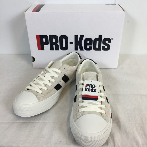 7ca55bd1dc31a PRO-KEDS Prokeds ROYAL PLUS royal plus suede cloth sneakers shoes shoes  shoes white white black black shoes men 27.0-free shell mound store 535402  ...