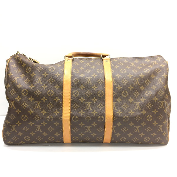 b23bcdb30f59 Mikunigaoka shop 252011 RMB1028 made in LOUIS VUITTON Louis Vuitton key  Poll band re-yell 55 M41414 Boston bag handbag traveling bag bag LV logo  brown men ...