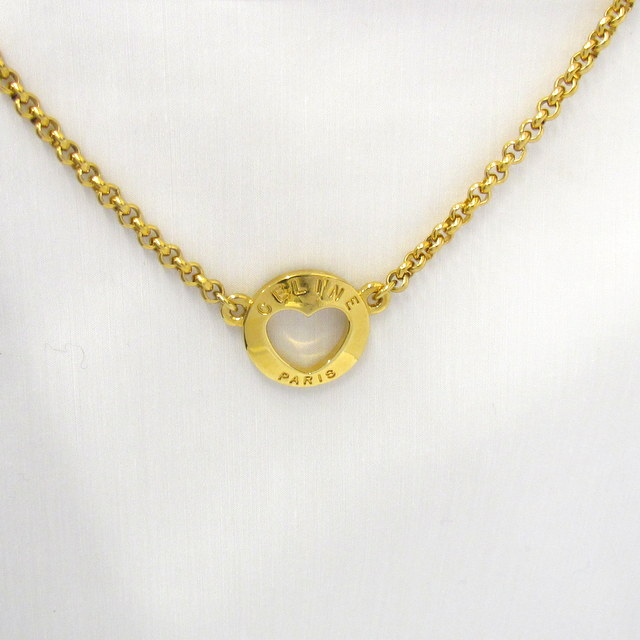 34b3320d31d Higashiosaka shop 299289 RYB1308 made in France with the CELINE Celine  necklace gold heart motif chain Lady s accessories preservation bag