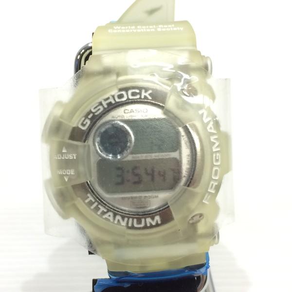 G-SHOCK ジーショック 腕時計 DW-9900WC-7T CASIO カシオ FROGMAN フロッグマン WCCS 世界サンゴ礁協会 ダイバーウォッチ デジタル クォーツ ホワイトスケルトン メンズ 三国ヶ丘店 256392 【中古】 RM3216