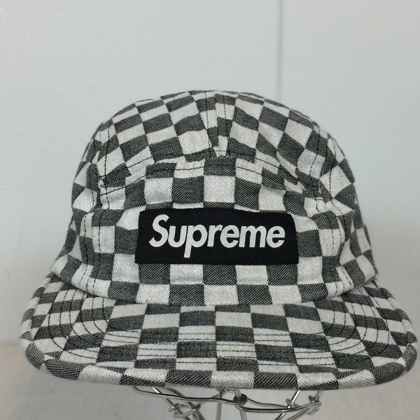 91d0e99a ... Shell mound store 574876 RK248HI made in the supreme シュプリーム 18ss  checkerborder camp cap 5panel- ...