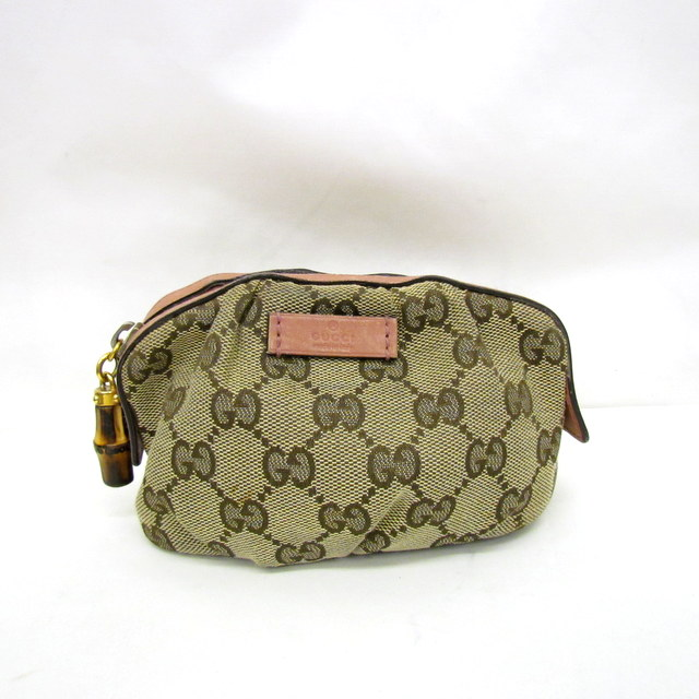 9474f8d2623 Lady s Higashiosaka store 303108 RYB1509 made in GUCCI Gucci makeup porch  multi-case cosmetics porch 246174 491403 GG pattern GG canvas beige brown  pink ...