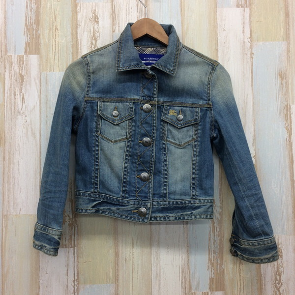 d926777697 Mikunigaoka shop 234543 RM821T made in BURBERRY BLUE LABEL Burberry blue  label denim jacket outer jacket blue one point Lady s 38 Vietnam