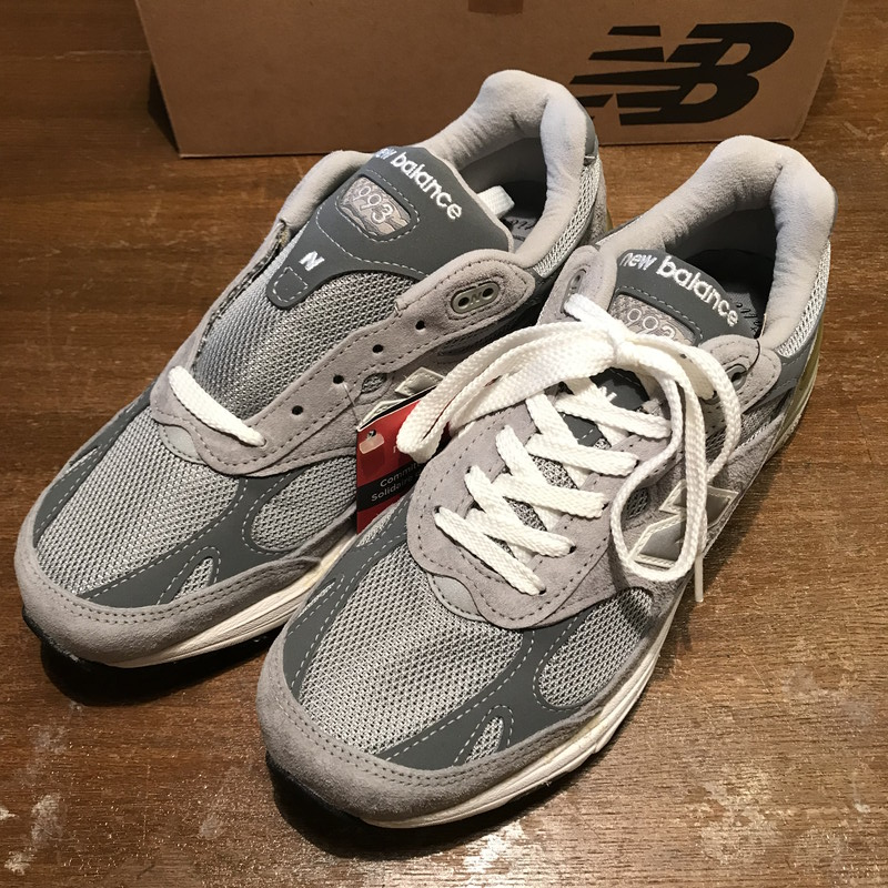 d80a797d20cc7 Vintage Mikunigaoka shop 253179 RM810H made in NEW BALANCE New Balance 00's  MR993GL sneakers abolished turn-free NOS rare gray men 25.5cm USA