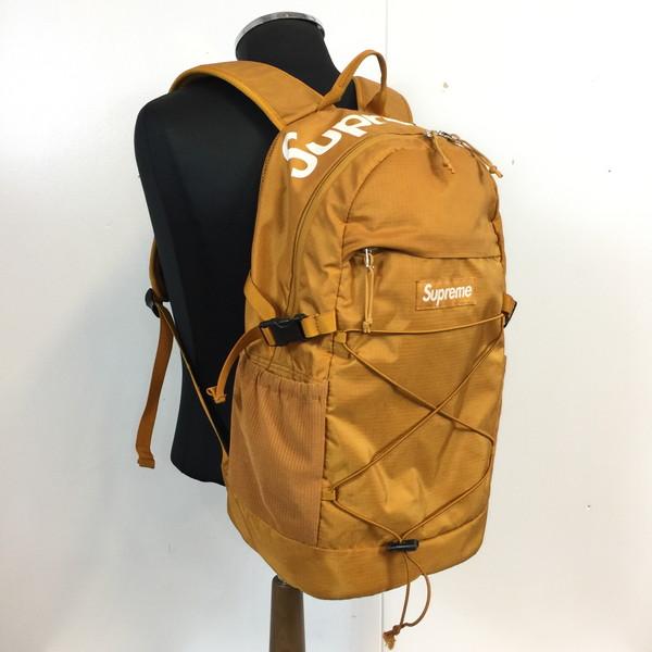 SUPREME シュプリーム Tonal Backpack 16ss ストラップボックス ロゴ バイロン バックパック 鞄 かばん カバン BAG リュックサック キャメル 茶 メンズ 貝塚店 596670 【中古】 RK384J