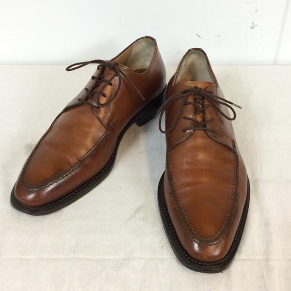 LOBBS ロブス ビジネスシューズ 靴 くつ クツ ブラウン 茶 レザー 本革 メンズ 40 25.5cm 貝塚店 613131 【中古】 RK422J