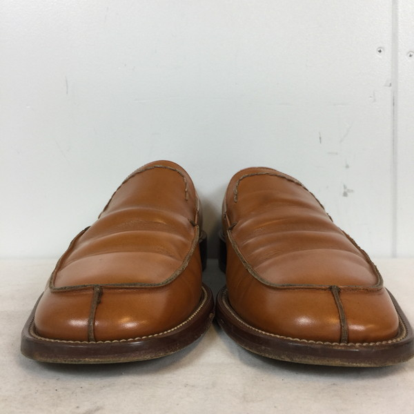87325ad76 NEXT51: DKNY达纳·kyaran·纽约低毛皮鞋鞋鞋鞋棕色茶皮革本皮革人8 26.5cm ...