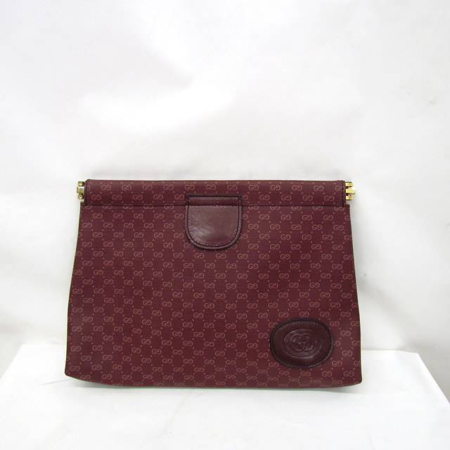 b7da9a728da GUCCI Gucci second bag porch clutch bag multi-case Bordeaux micro GG  67-039-5229 lady s men s Higashiosaka shop 313541 RYB1837