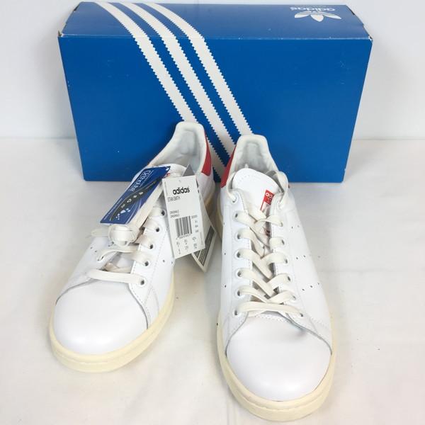 adidas アディダス STAN SMITH B25363 ORIGINALS スニーカー 靴 クツ くつ ホワイト 白 white レッド 赤 RED シューズ メンズ 27cm INDIA製 貝塚店 632514 【中古】 RK470J